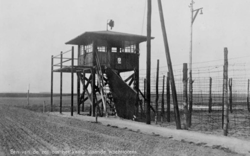 One of six watchtowers at Stalag IVB POW camp.