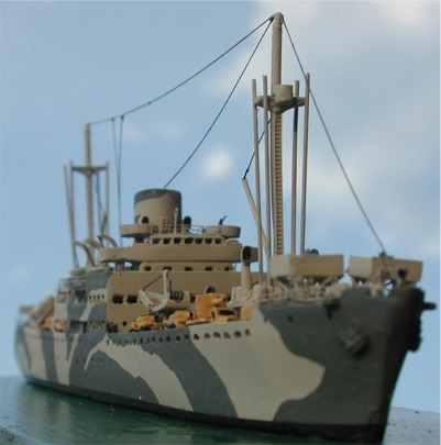 Ship model of Ugo Foscolo Italian supply ship, 1943