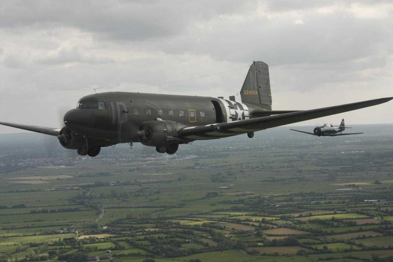 C-47 Dakotas in flight