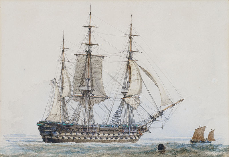 Painting by John Ward of Hull (1798-1849). Public domain.