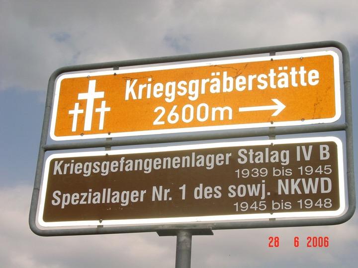 Stalag IVB road sign