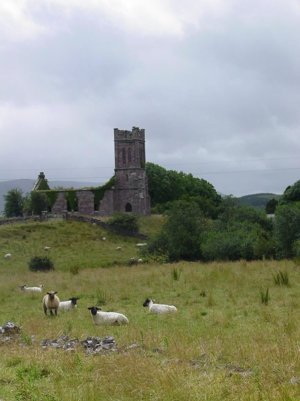 Ireland, Mayo, ruined church