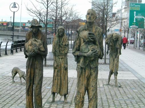 Irland, Dublin, famine memorial