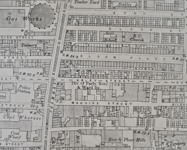 Liverpool - Vauxhall road adjoining streets - map