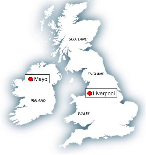 Map Mayo-Liverpool