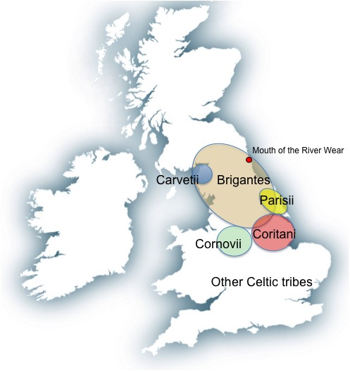 Celtic Britain map