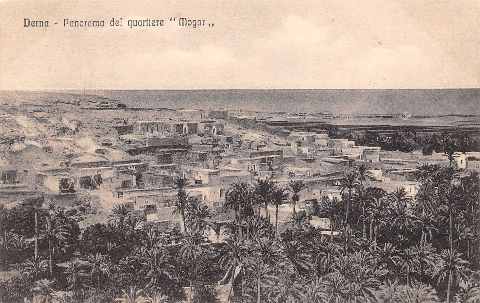 Postcard picture of Derna 1942