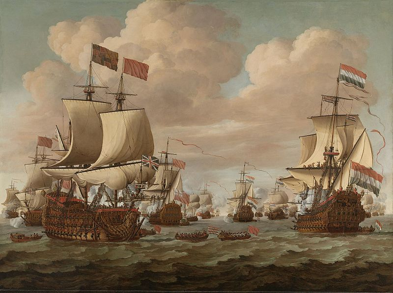 English-Dutch sea battle