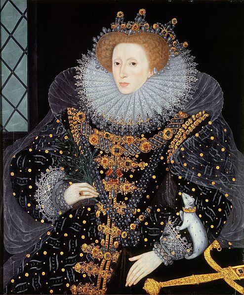 Elizabeth I. Attributed to William Segar (1564-1633). Public domain.