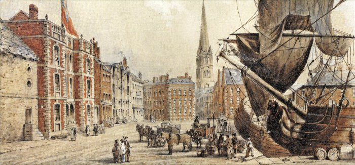Loverpool old Lord Street 1700s