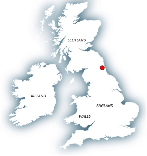 Location of Houghton le Spring in British Isles