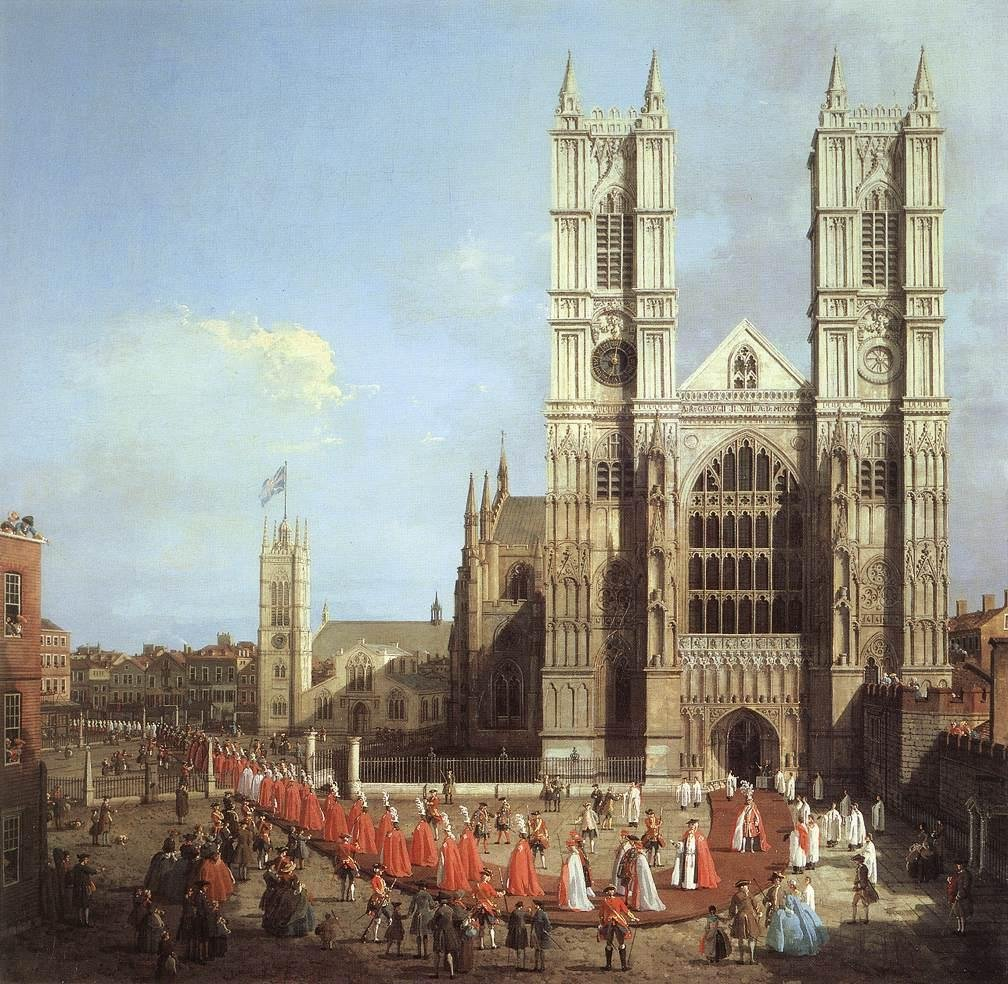 Westminster Abbey procession of knights, 1749