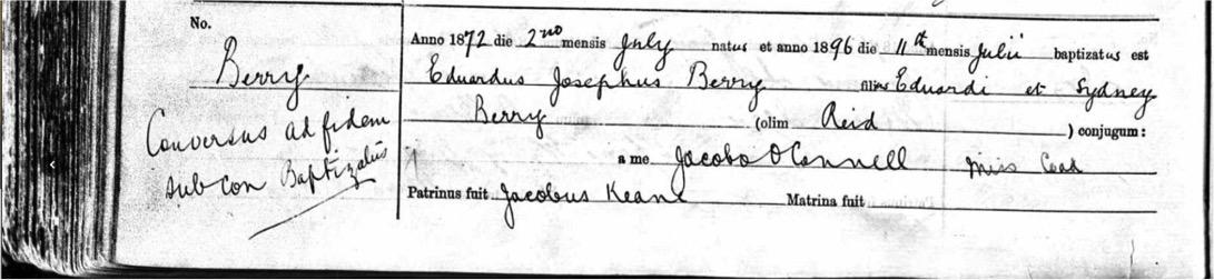 Edward Berry adult baptism