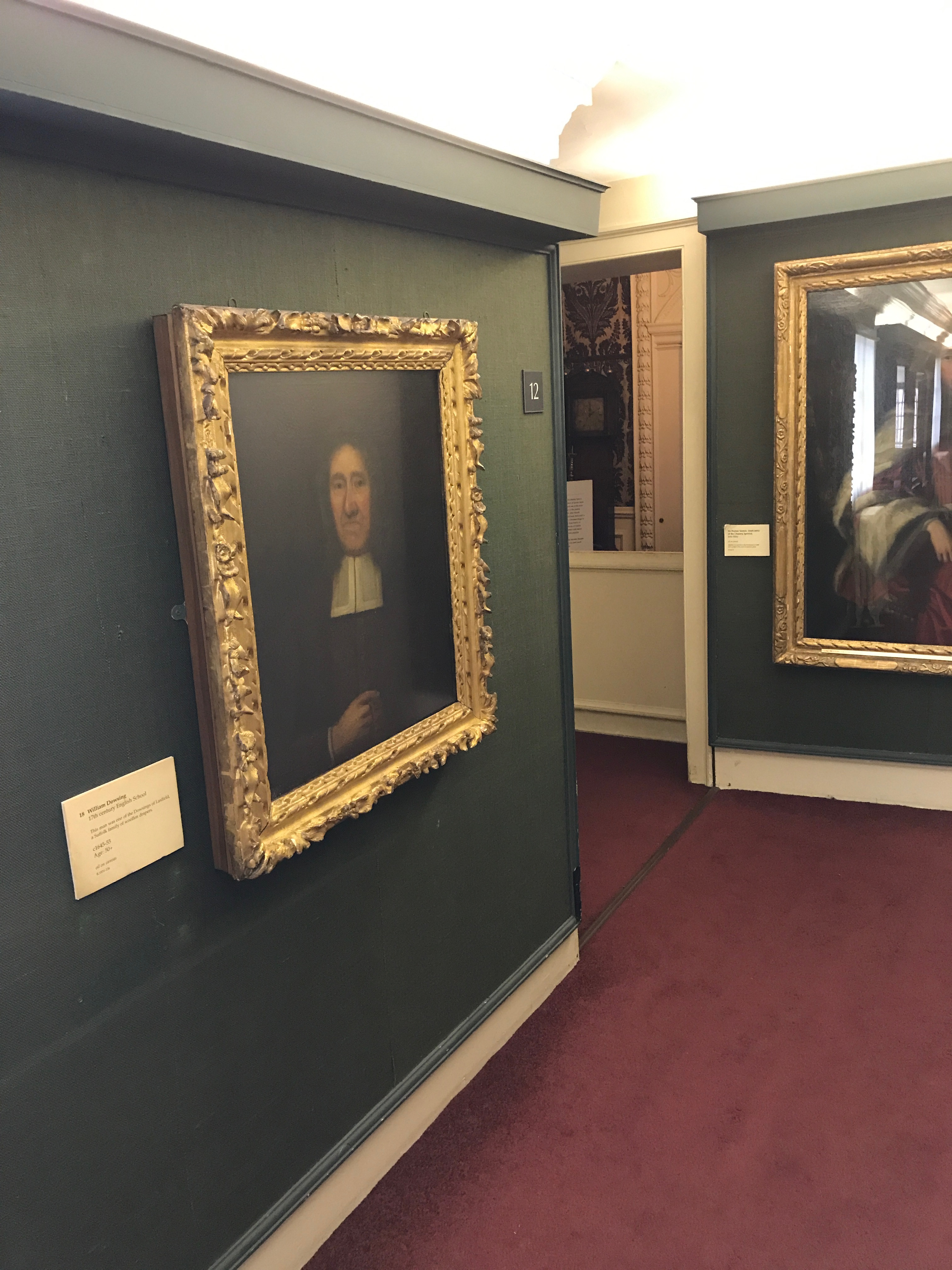William Dowsing portrair hanging in Wolsey Art Gallery, Ipswich, England.