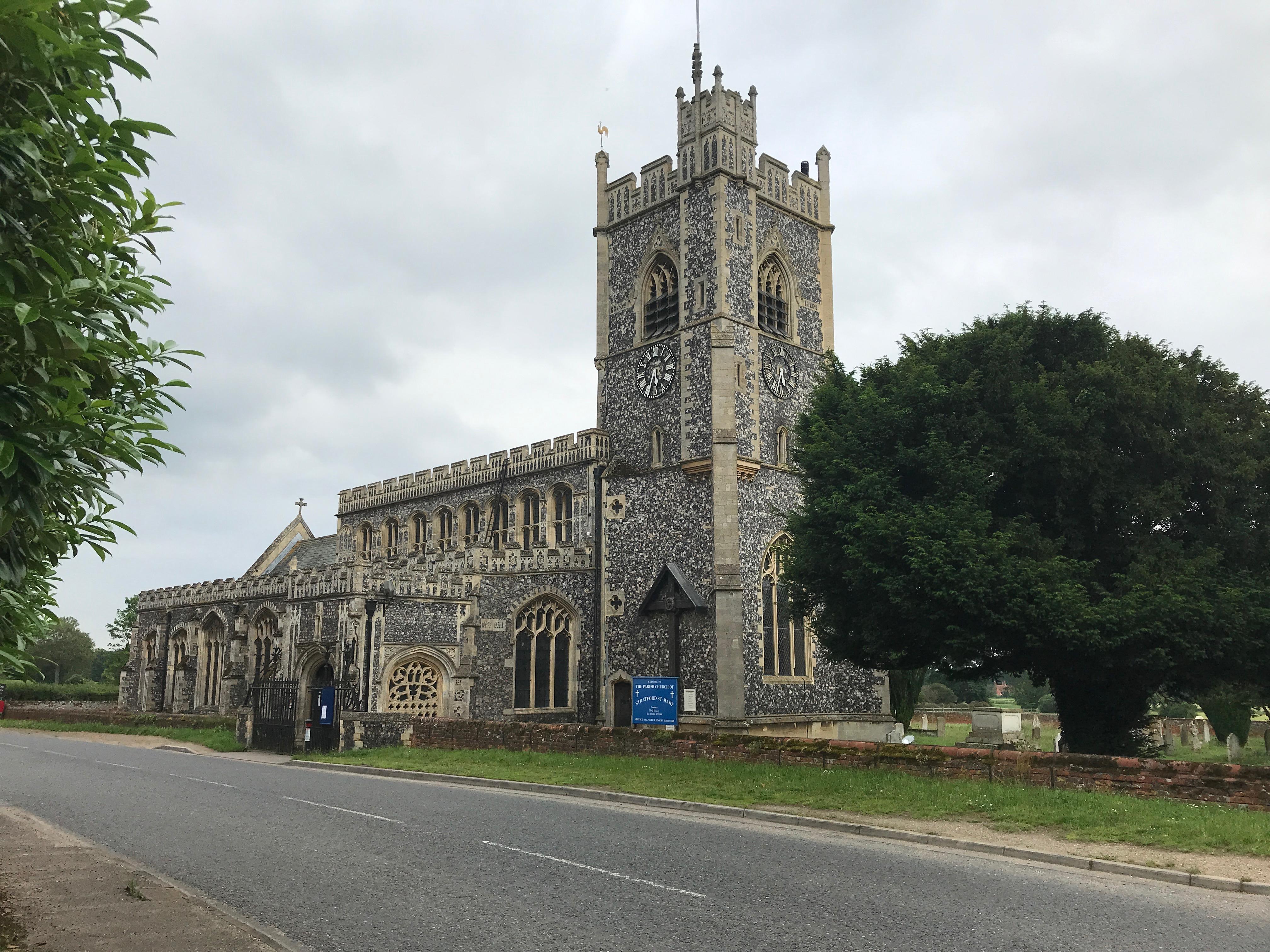 Parish church of Stratford St Mary, Suffolk, England