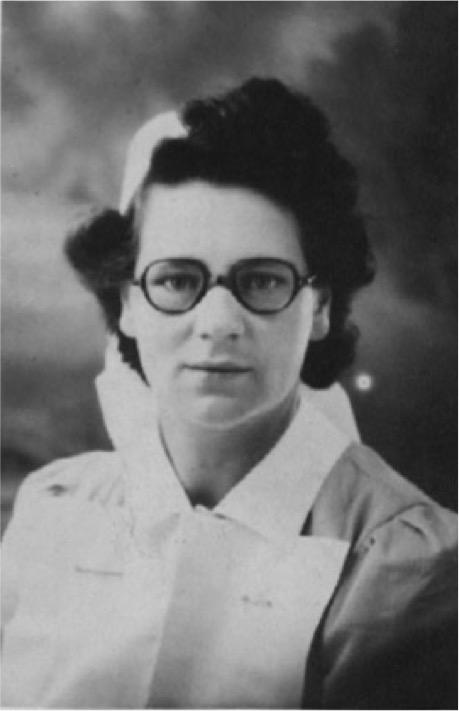 Doris Otterson as a nurse in 1945.