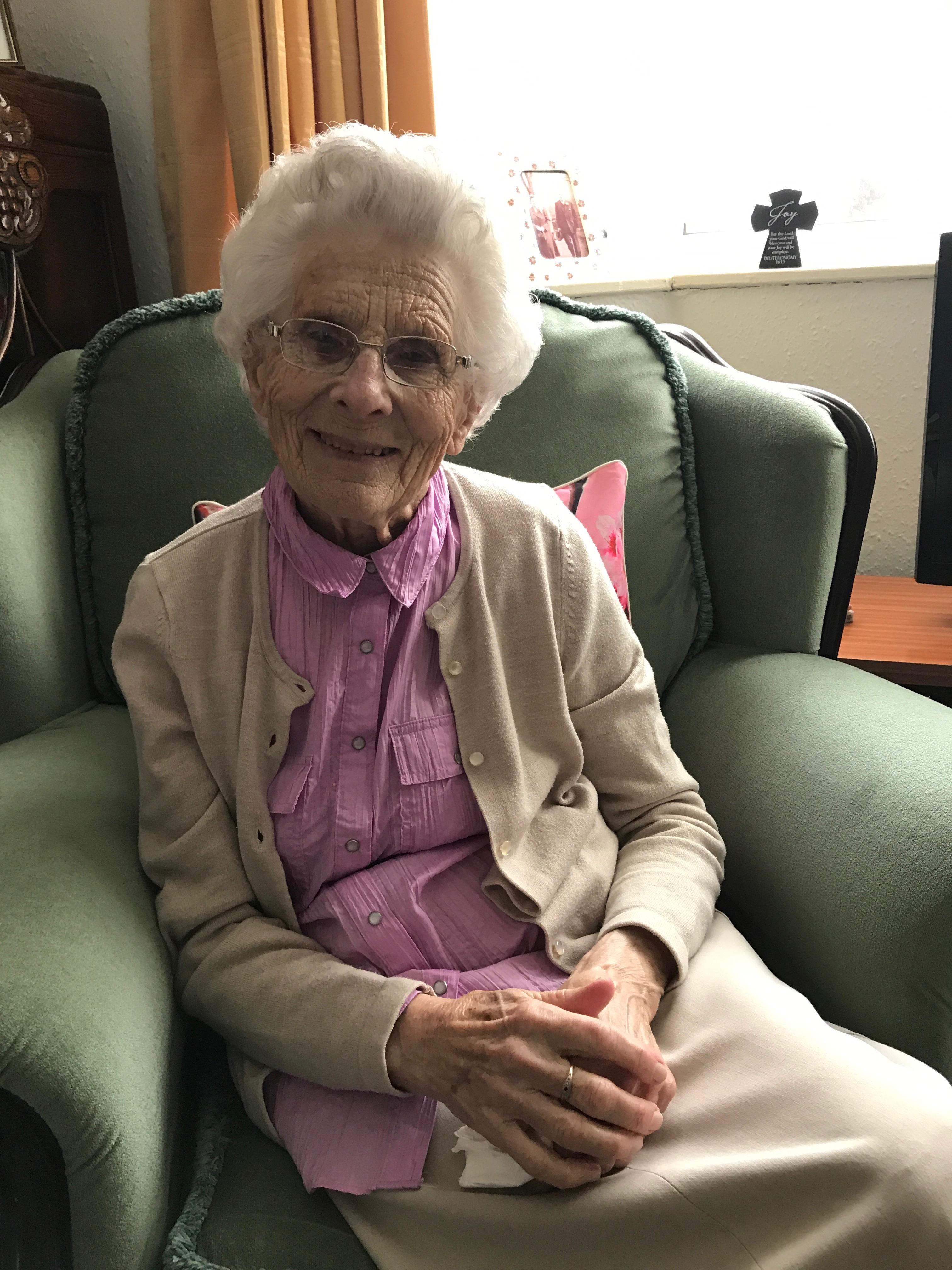 Sybil Warrington at home in Lutterrel Way