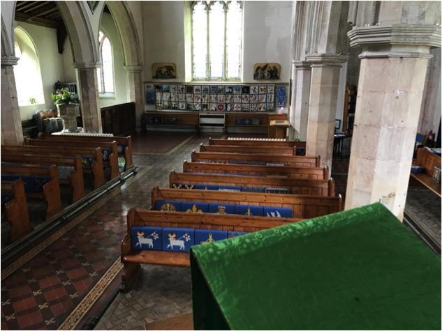 Coddenham St Mary's, Suffolk, pulpit view