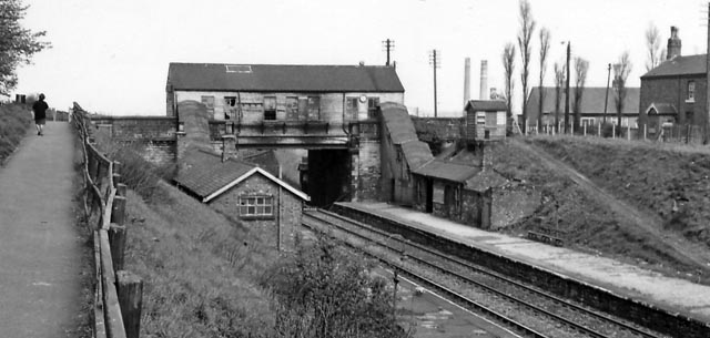 Brandon Colliery railway station, after closure