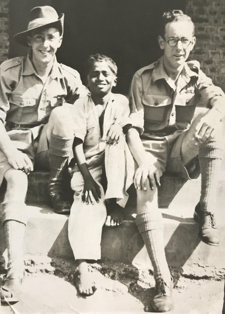 With Australian soldier, Karachi