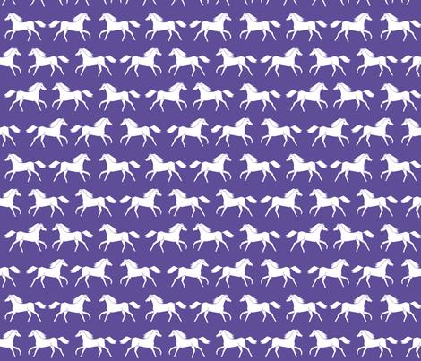 purple horse fabric