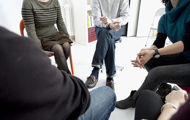 group therapy meeting in hospital