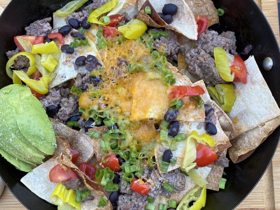 cast iron nachos