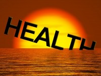the word health is sinking