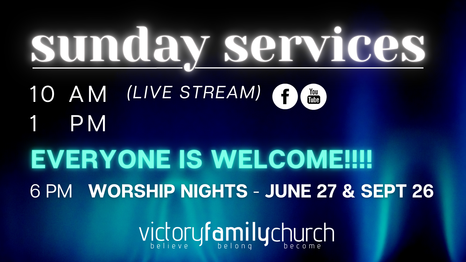 sunday services june 2021