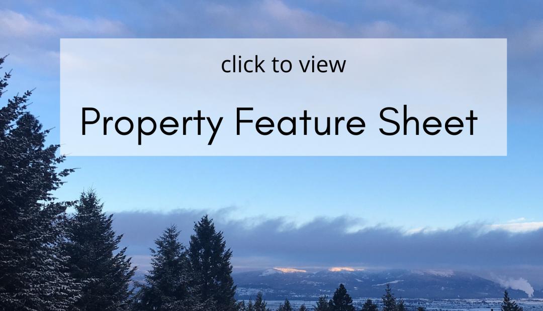 16785 W Deer Ridge Post Falls Home Property Feature Sheet