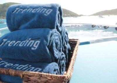 Trending Yacht Monogram Towels