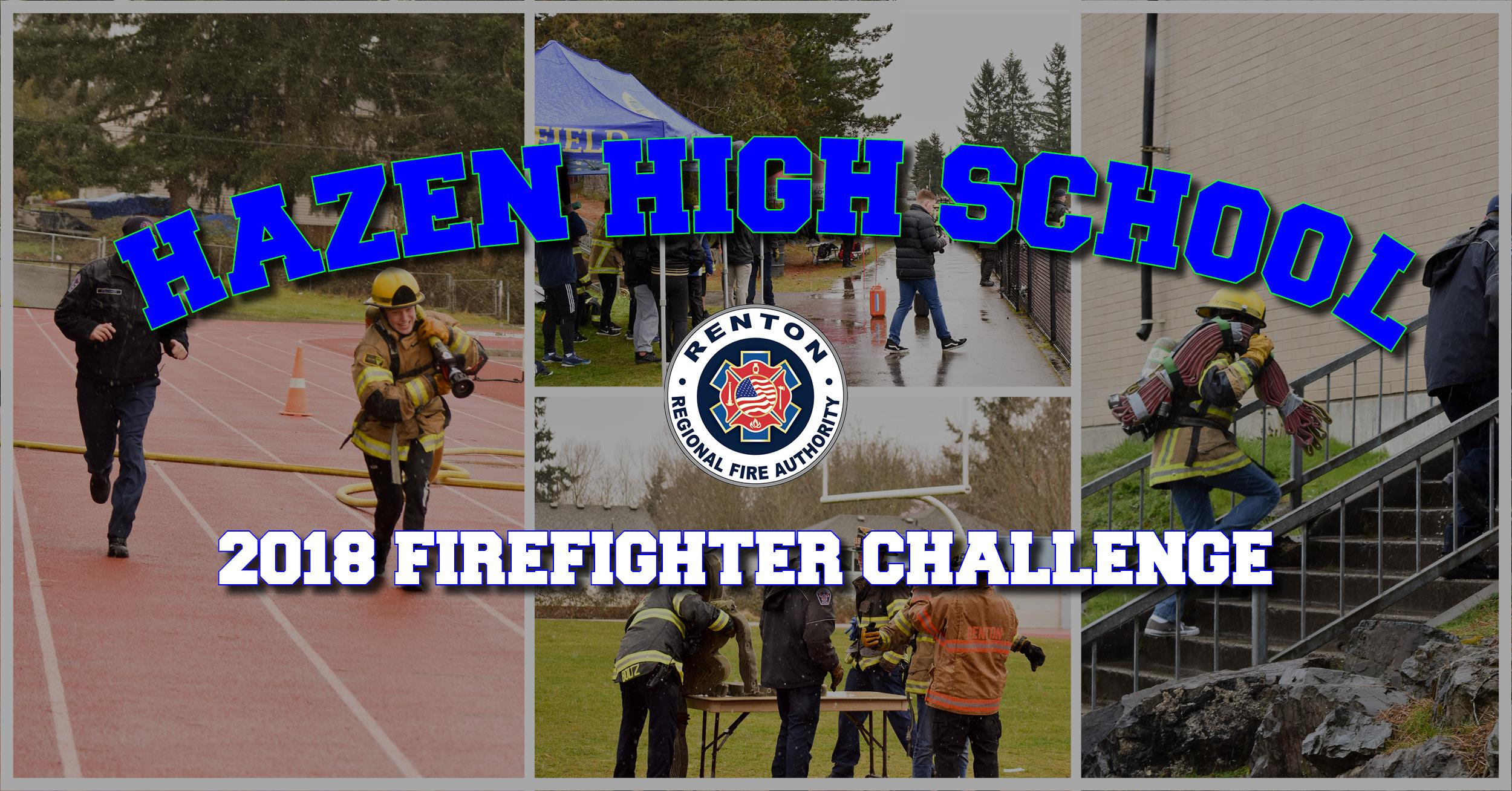 Hazen High School Braves Snow for Firefighter Challenge
