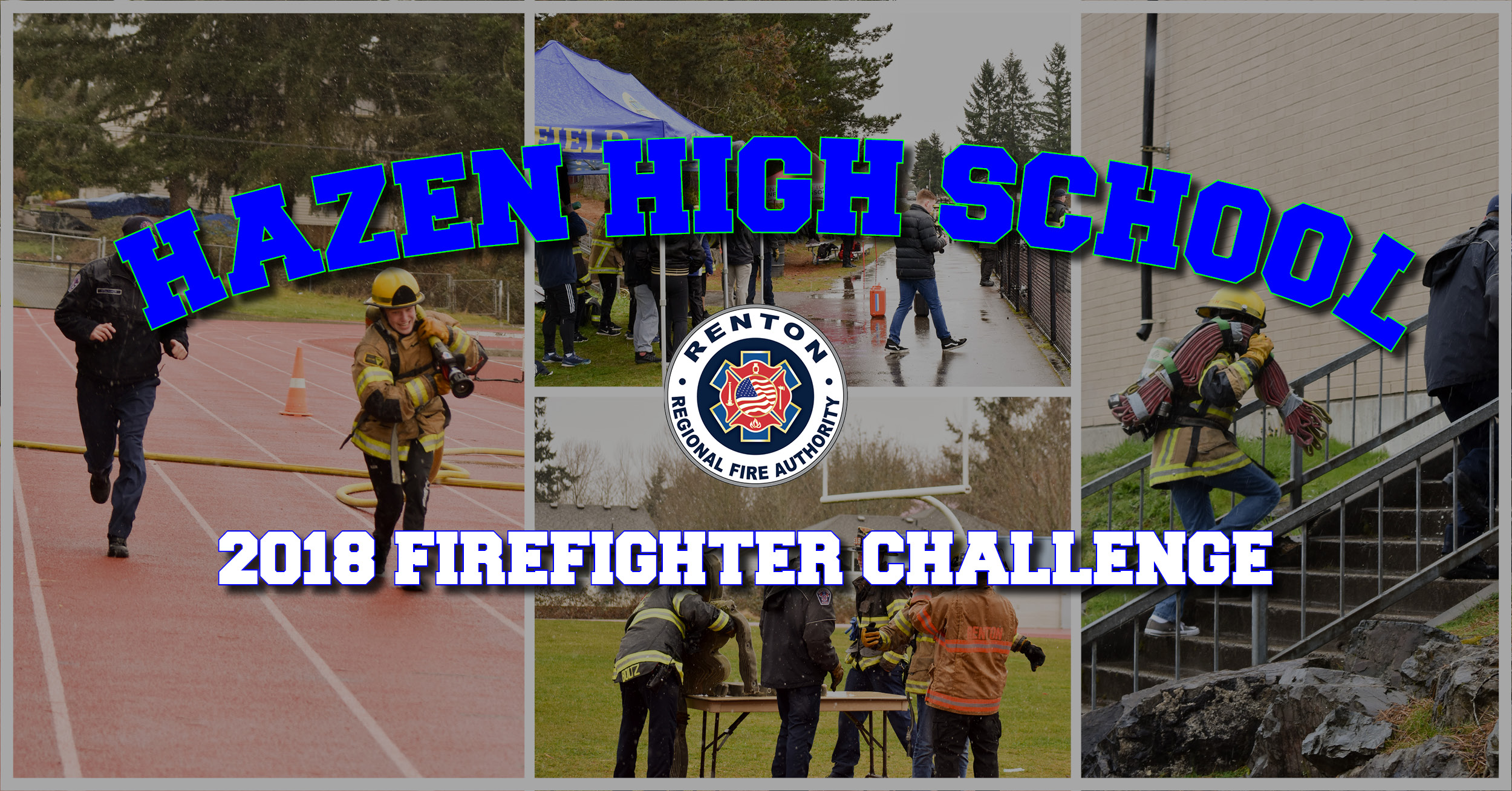 Hazen High School Braves Snow for Firefighter Challenge