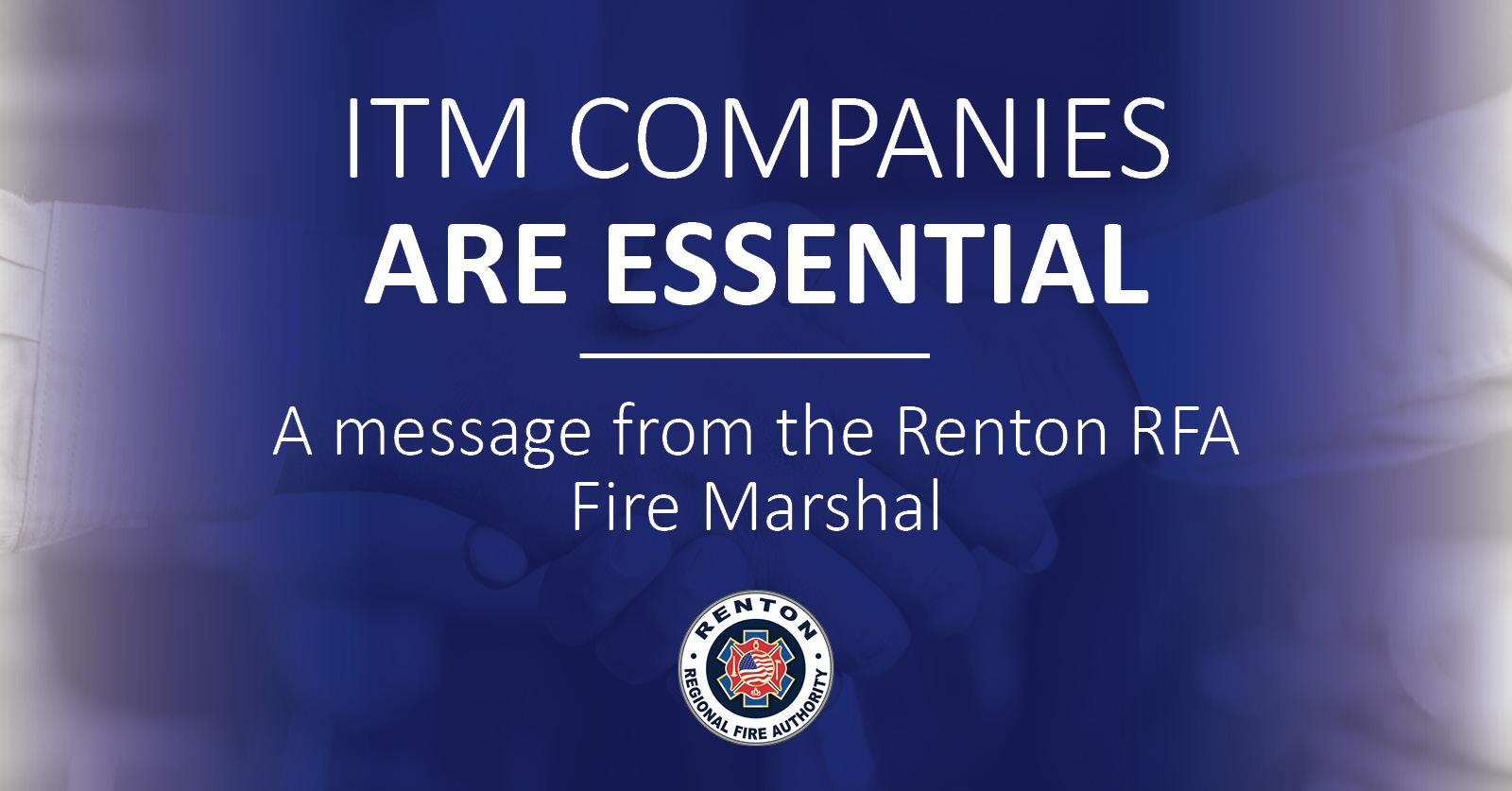ITM Companies Are Essential Businesses