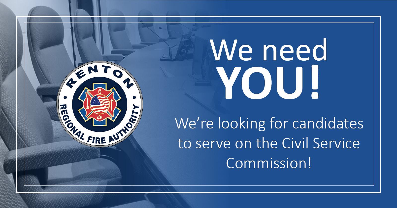 Renton RFA Seeks Candidate for Civil Service Commission