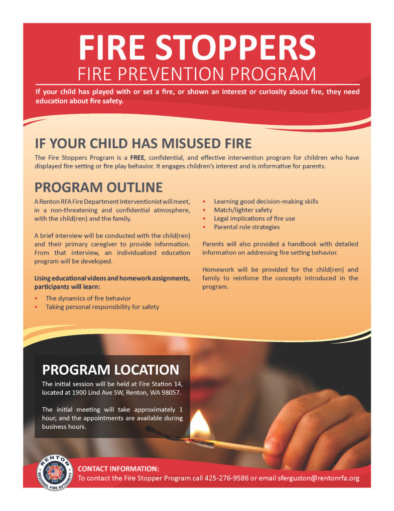 Fire stoppers program flyer example