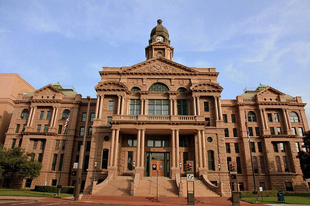 Tarrant County Courthouse. Where the Tarrant County criminal process takes place.