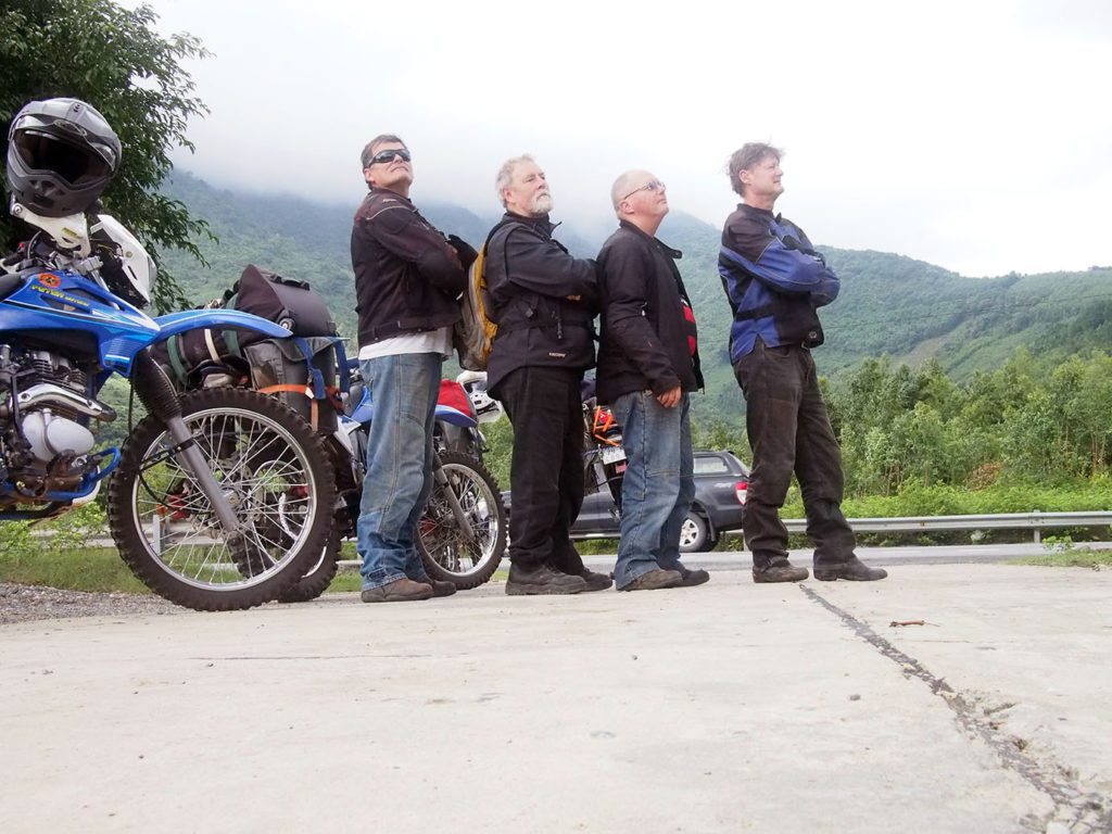 Moto Indo tour group on the road