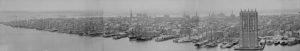 Panoramic View of Manhattan by Joshua Beal, 1876
