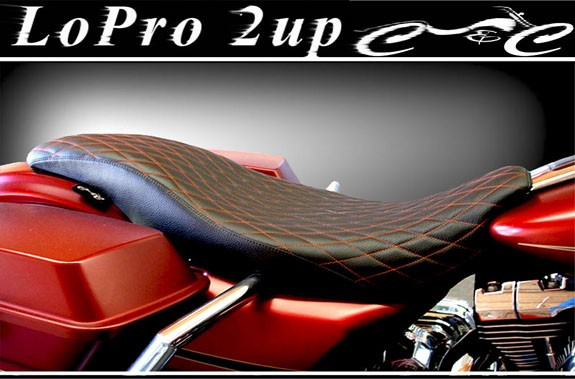 97-18+ Bagger LoPro 2UP – C&C Motorcycle Seats