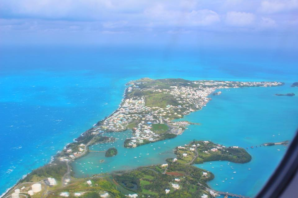 photo of Bermuda from the air