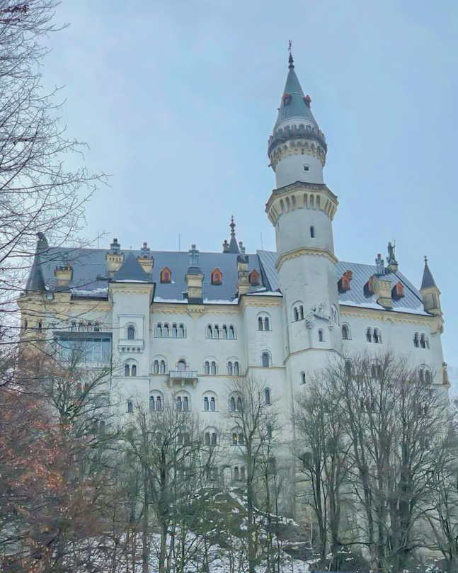 The famously known, Neuschwanstein Castle.