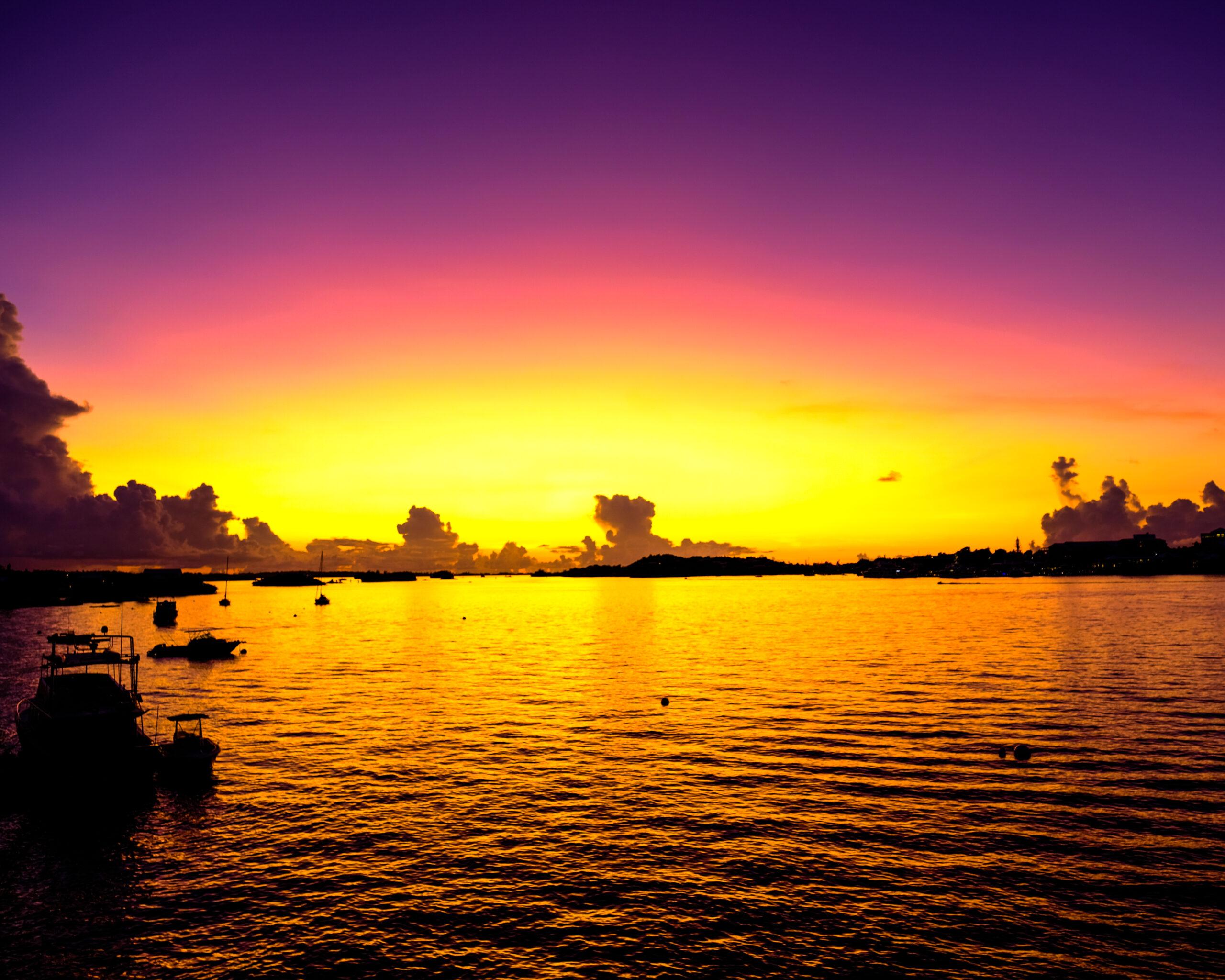 beautiful Bermuda sunset from ashh monster