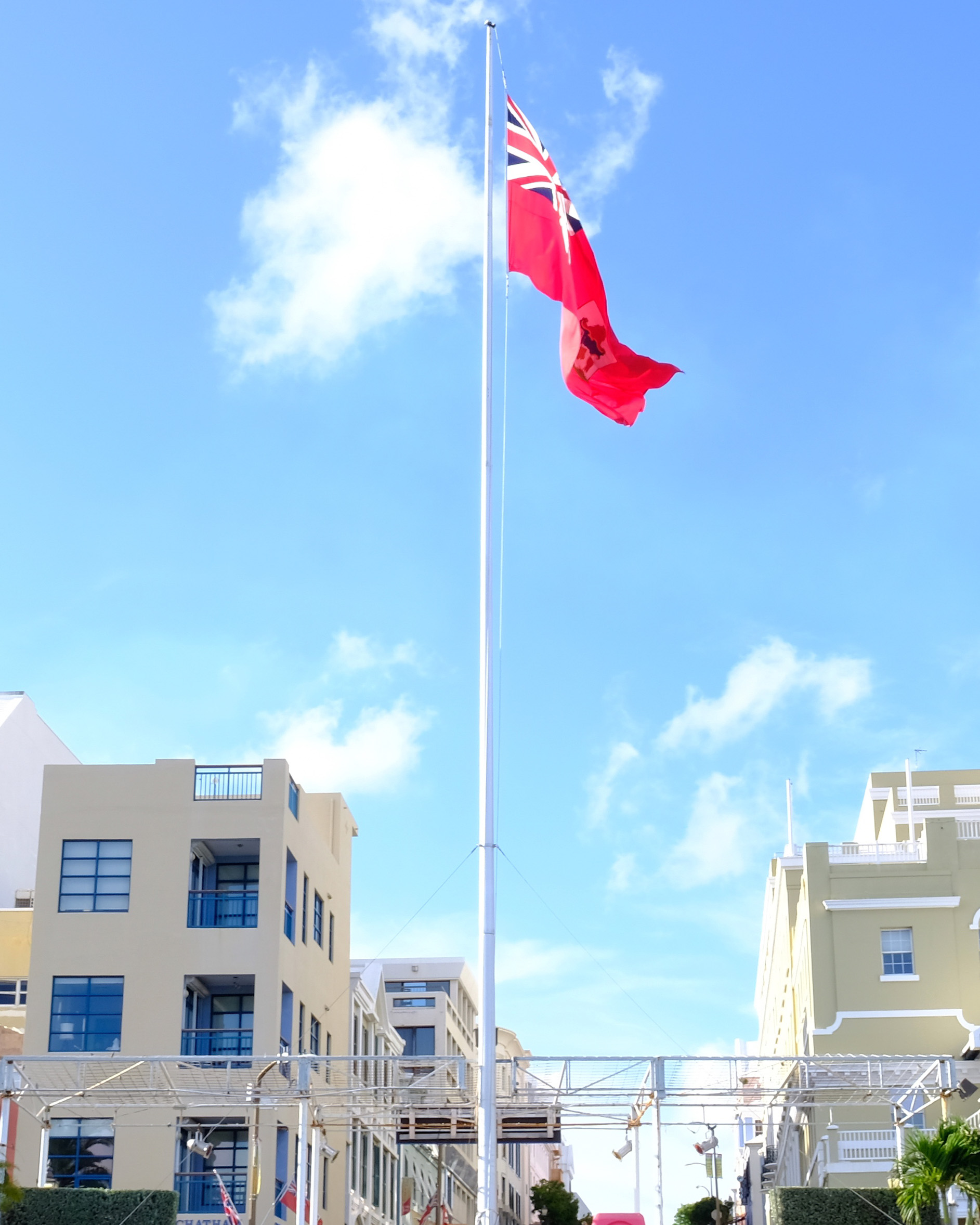 Bermuda flag from front street