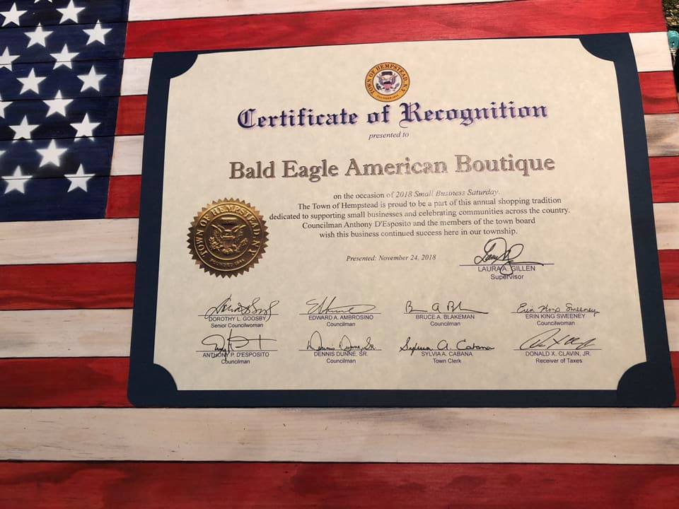 Joanne at American Bald Eagle was Recognized