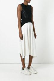 DKNY Black and white two-tone dress