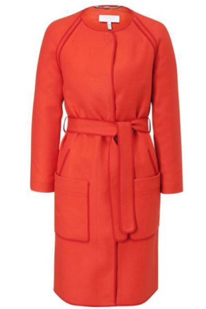Escada Sport Orange Wool Coat For Women