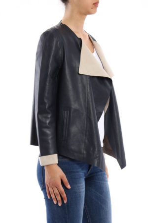 jacket leather color navy blue by Gerard Darel