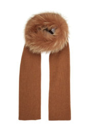 Max Mara wool scarf with real fur
