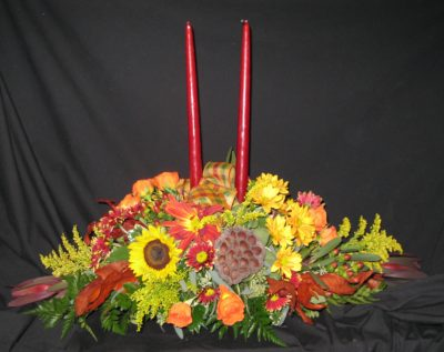 Two Tapered Candle Arrangement